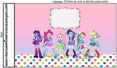 Kit Equestria Girls ( My Little Pony ) Equestria Girls, Festa Do My Little Pony, Candy, Printables, Pony Party, My Little Pony, Popcorn Bucket, Celebration, Print Templates