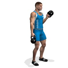 ALTERNATE CURL HAMMER KETTLEBELL INVOLVED MUSCLES DURING THE TRAINING BICEPS