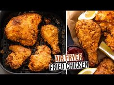 Learn how to make the BEST buttermilk fried chicken in the air fryer in under 45 minutes. Super crispy on the outside and tender and juicy, this air fried ch. Air Fryer Fried Chicken, Making Fried Chicken, Air Fried Food, Fried Chicken Recipes, Air Fryer Oven Recipes, Air Frier Recipes, Air Fryer Dinner Recipes, Buttermilk Fried Chicken, Nutrition