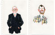 Expressive illustrations by Damien Florebert Cuypers