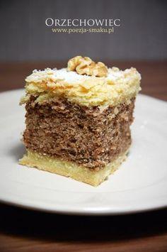 Orzechowiec / Nut Cake (recipe in Polish) Polish Desserts, Desserts To Make, Polish Recipes, No Bake Desserts, Polish Food, Cookbook Recipes, Cake Recipes, Dessert Recipes, Polish Cake Recipe