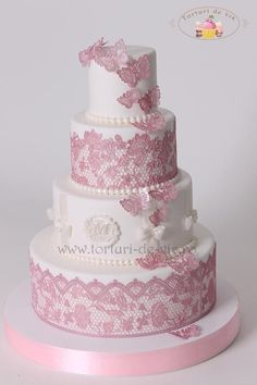 Lace and Butterflies by Viorica Dinu …See the cake: http://cakesdecor.com/cakes/142024-lace-and-butterflies