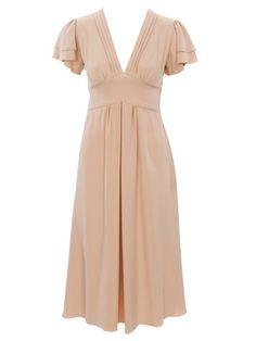burda style, Schnittmuster - Fließendes, kniebedeckendes Kleid aus Kreppsatin, Nr. 107 aus 12-2011