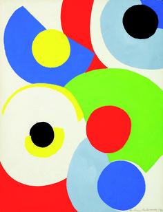 Sonia Delaunay (1885-1979) - Cercles colorés, 1961