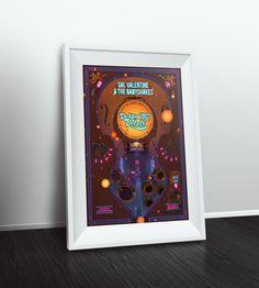 Gig poster - Sal Valentine and Richter City Rebels Rebel, Behance, Bar, City, Frame, Poster, Decor, Decoration, Decorating