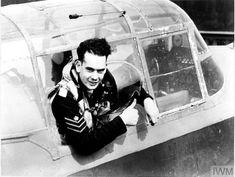 Photographic negative Lancaster Bomber, Maximum Effort, Royal Air Force, Britain, Collection, Pilots