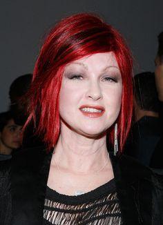 Cyndi Lauper... pretty color