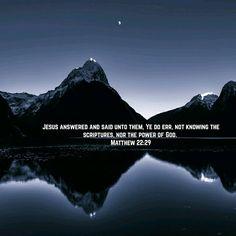 Matthew 22:29