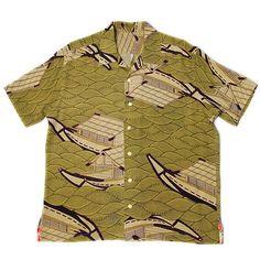 Japanese Vintage Kimono Aloha Shirts  YAKATA Ship