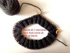 GORRO TRICÔ COM AGULHA CIRCULAR Knitting Stitches, Knitting Patterns, Circular Needles, Crochet Art, Beanie Hats, Knitted Hats, Crochet Earrings, Ear Warmers, Baby Hats