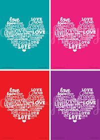 artsy-fartsy mama: Free Printable Love Word Art