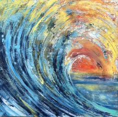 """""""Sunset""""- wave painting by Adam Brett http://www.adambrettart.com/"""