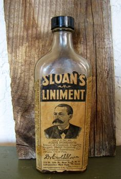 Vintage Pharmacy rx Bottle Sloan's Liniment 6oz. $12.00, via Etsy.