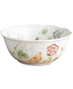 """Lenox """"Butterfly Meadow"""" Large All Purpose Bowl"""