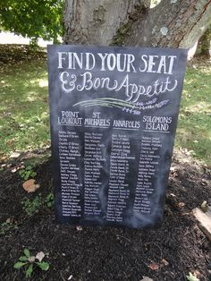 Custom Wedding Seating Chart - $339 on Etsy or WAY cheaper by me : )