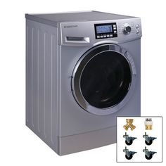 EdgeStar 2.0 Cu. Ft. Washer Dryer Combo with Portability Kit - CWD1510SPORTK