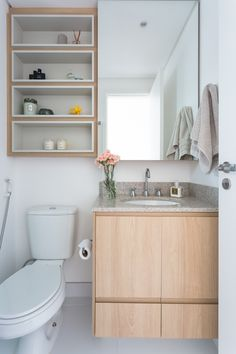 As a place to freshen your body from the hectic daily routines, a bathroom needs to make you feel motivated as soon as you enter it. A clean, neat, an. Bathroom Layout, Modern Bathroom Design, Bathroom Interior Design, Bathroom Storage, Small Bathroom, Home Design Decor, Diy Home Decor, House Design, Cupboard Design