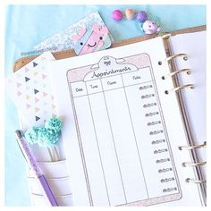 Don't miss your important appointments! Cute Planner, Study Planner, Planner Inserts, Appointments, How To Draw Hands, Printables, Instagram Posts, Student Planner, Print Templates