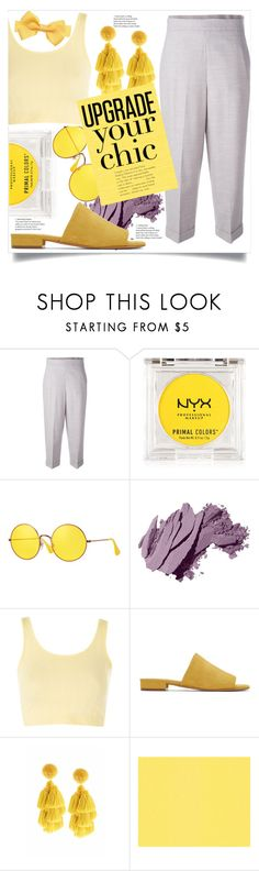 """Lavender & Lemon"" by nadyabyne ❤ liked on Polyvore featuring FABIANA FILIPPI, NYX, Ray-Ban, Bobbi Brown Cosmetics, Topshop, Mansur Gavriel and Sachin + Babi"