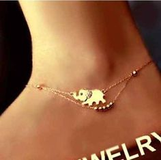 Swarovski Crystal Double Chain Elephant Anklet Ankle Bracelet Beach Foot Jewelry in Jewellery & Watches, Fashion Jewellery, Anklets Foot Bracelet, Anklet Bracelet, Beach Foot Jewelry, Silver Bracelets For Women, Ankle Chain, Beaded Anklets, Bare Foot Sandals, Wholesale Jewelry, Bracelets