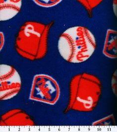 "Philadelphia Phillies Fleece Fabric 58"" - Tossed"