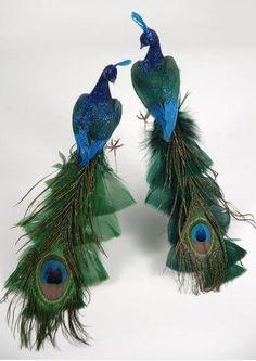 Peacock Wedding Centerpiece
