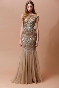 The Badgley Mischka Pre-Fall 2014 Collection is Inspired by Rome #prom #promdresses trendhunter.com