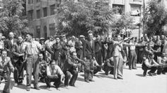 JUL 11 1942 'Black Sabbath' for the Jews of Salonika The whole episode was watched by a crowd, mainly composed of members of the German armed forces. Jewish Men, Holocaust Memorial, Forced Labor, Never Again, Lest We Forget, Black Sabbath, Thessaloniki, Armed Forces, Wwii
