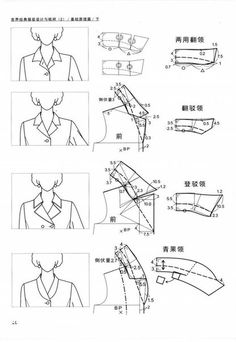 All Things Sewing and Pattern Making Shirt Collar Pattern, Jacket Pattern, Dress Sewing Patterns, Clothing Patterns, Sewing Clothes, Diy Clothes, Sewing Hacks, Sewing Tutorials, Formation Couture