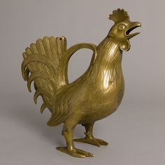 Aquamanile in the form of a rooster, Lower Saxony, Germany, 13th c.