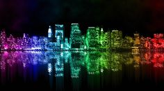 Rainbow City Wallpaper - YouTube