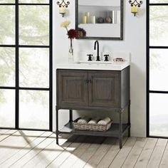 designs base rustic product at oak chic com fairmont vanities bathroom vanity weathered fergusonshowrooms