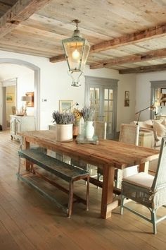 Beautiful Traditional Country Home with Wood-Planked Ceiling