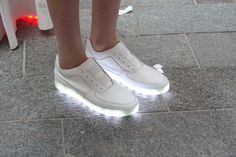 Where have these been all my (adult) life? Grown-up version of kids' light-up sneakers. Samuel Yang.