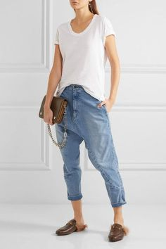 266f1cff75f0d Bassike - Super Lo Slung cropped boyfriend jeans