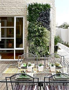 Gardens and Supported Vertical Garden Ideas, Designs, Tips Vertical garden, sometimes called a living wall.Vertical garden, sometimes called a living wall. Outdoor Spaces, Outdoor Living, Outdoor Decor, Vertikal Garden, Walled Garden, Garden Show, Garden Living, Garden Inspiration, Outdoor Gardens