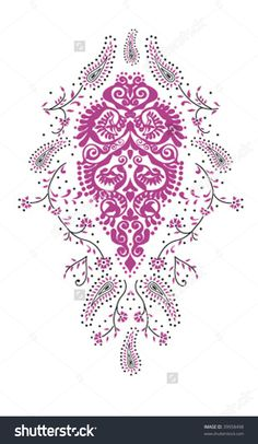 Kashmir paisley design fashion.