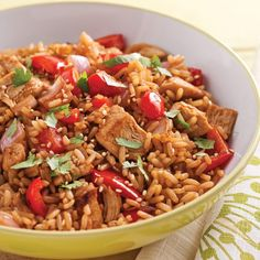 Fried Rice with Vegetables and Chicken – Recipes – Cooking and Nutrition – Pratico Pratique by Diced Chicken, Chicken Rice, New Recipes, Cooking Recipes, Confort Food, Vegetable Rice, Love Eat, Pasta, Fried Rice