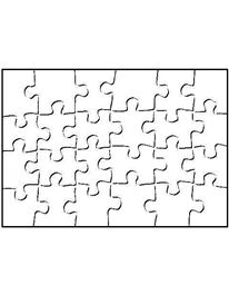24 Piece Jigsaw Puzzle Template - print it on the back of your kids' artwork and cut it out to make a puzzle of their very own!