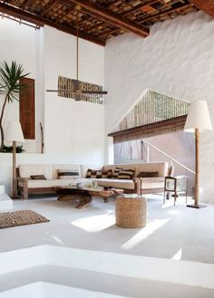 CASA TIBA, beautiful vacation rental villa in Trancoso, Brazil. Rustic, natural and simple, yet with sophistication. Interior Exterior, Home Interior, Interior Architecture, Interior Decorating, Interior Ideas, Decorating Ideas, Natural Interior, Interior Designing, Decorating Websites