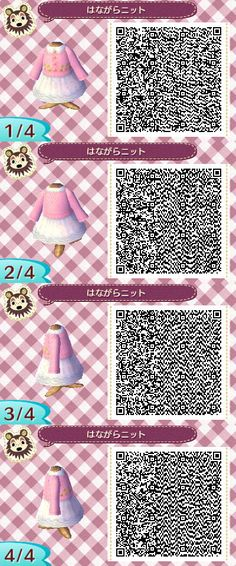 Animal Crossing: New Leaf - pink dress QR-code