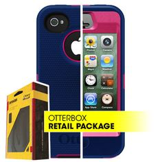 Blue n' Pink OtterBox Defender Series Case for iPhone 4 4S w/ Belt Holster | eBay