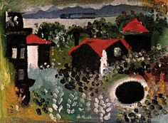 LandscapePablo Picasso - 1920 ~Via LalouSarre Pablo Picasso Artwork, Picasso Paintings, Oil Paintings, Picasso Rose Period, Andrew Wyeth Art, Environment Painting, Cubist Movement, Juan Les Pins, Georges Braque