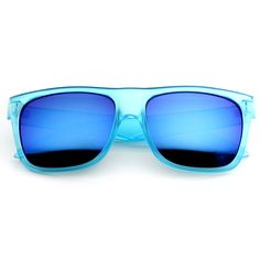 VIVALUXURY: Frosted Retro Flat Top Candy Color Revo Lens Sunglasses 8610