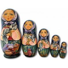 Cats in the Kitchen - Matryoshka Nesting Dolls