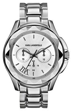 KARL LAGERFELD 'Karl 7' Chronograph Bracelet Watch, 44mm