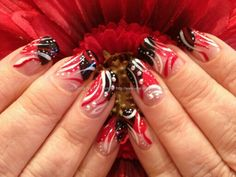 Chinese New Year bombshell pinup nails