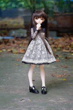 MNF Ruffle Lace Dress MSD BJD size by MINIJIJO on Etsy