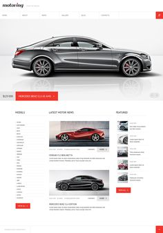 Joomla Template 46038 in Car category Web Design Software, Ecommerce Website Design, Auto Site, Joomla Themes, Themes Themes, Mercedes Models, F12 Berlinetta, One Page Website, Renz