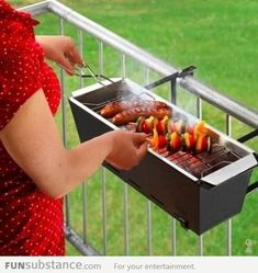 Keith and I already have a huge grill, but this would be very handy in the winter months. Balcony grill.